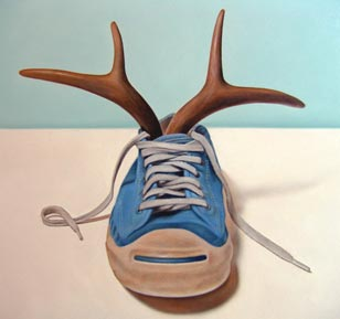 <em>shoe horn</em>, oil on cradled panel, 11-in. x 14-in.